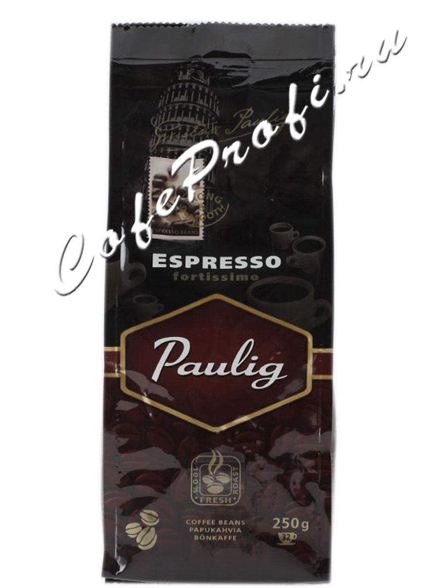 Кофе Paulig (Паулиг) Espresso Fortissimo в зернах 250 г