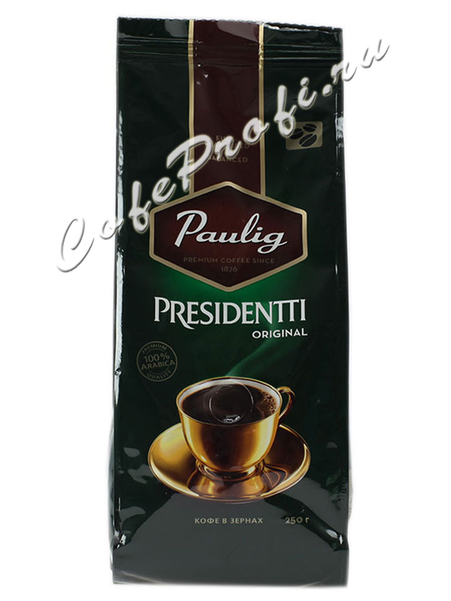 Кофе Paulig (Паулиг) Presidentti Original в зёрнах 250г